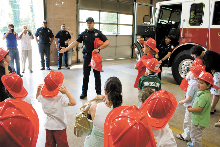 Kids party at the fire station Reporter Newspapers