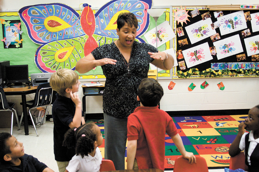 Kindergarten teacher at Woodland honored by two civic groups