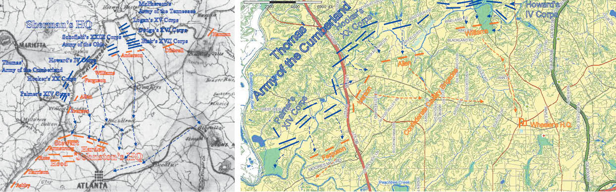 Peachtree Georgia Map.The Battles For Buckhead From Nancy Creek To Peach Tree Creek In