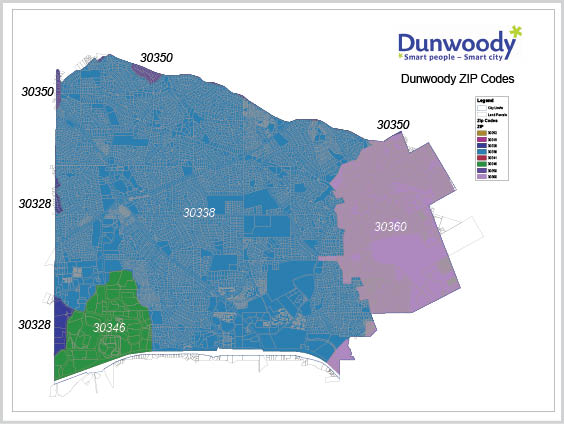 Dunwoody Officials Put More Of Us In The Same ZIP Code Reporter - Us postal zone map
