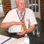 Milton Gorman discusses Kiwanis history during the Sandy Springs Kiwanis Club's 60th birthday celebration on June16 at the Williams Payne Garden Room at Heritage Sandy Springs.