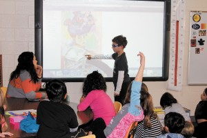 Dori Handel's second-grade students use 'critical thinking' skills to appreciate art at The Galloway School in Buckhead.