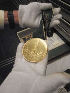 An Olympic medal in the Atlanta History Center's collection.