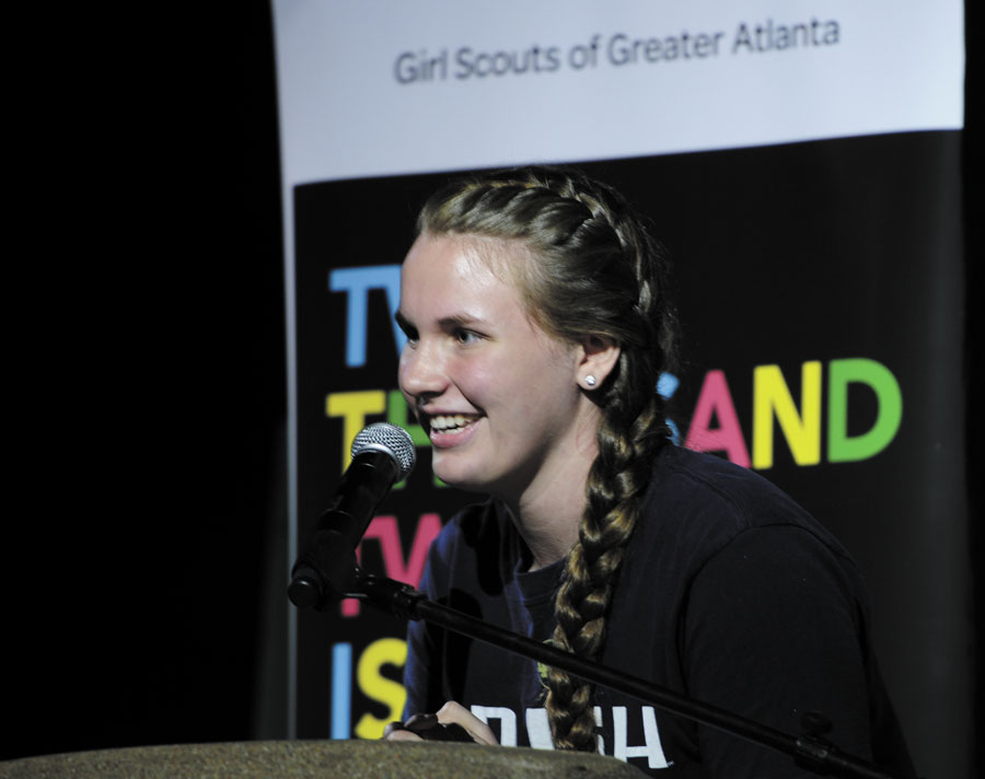 sandy springs girl scout tops the cookie charts   reporter