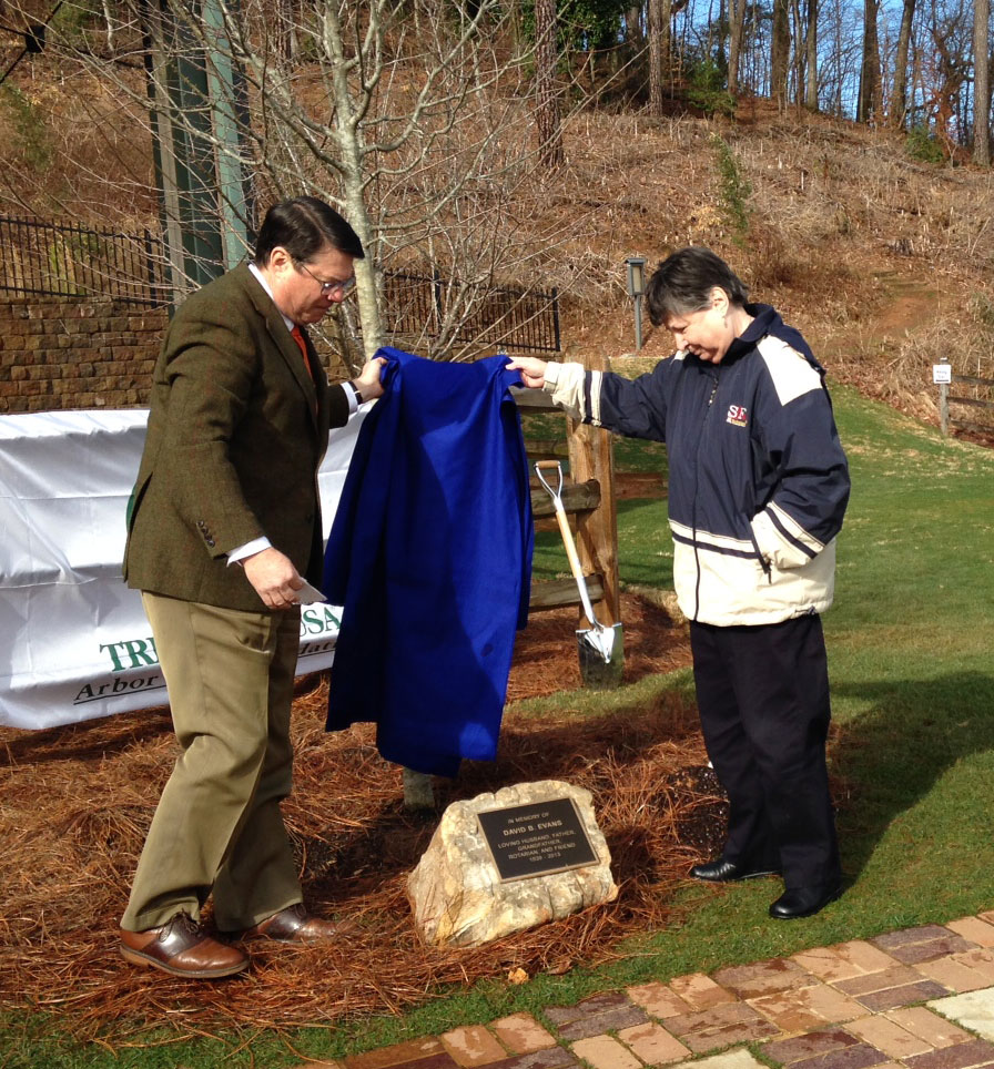 Tree planted in memory of Sandy Springs' 'champion' David Evans