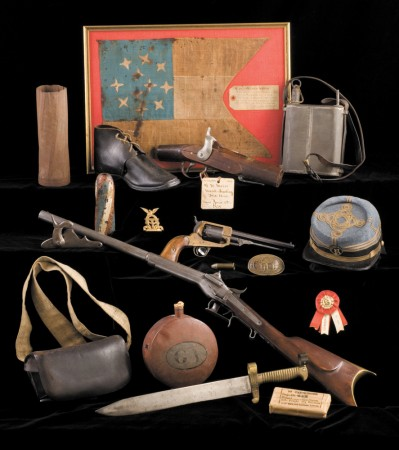 Rarities in the George W. Wray Jr. Civil War Collection at the Atlanta History Center include a Confederate cavalry pennant, canteens, officer's cap and a one-of-a-kind experimental carbine.