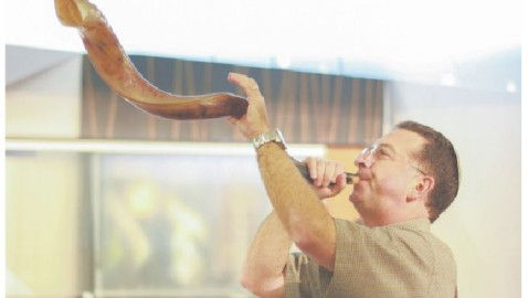 Blasts from ram's horn announce Jewish New Year