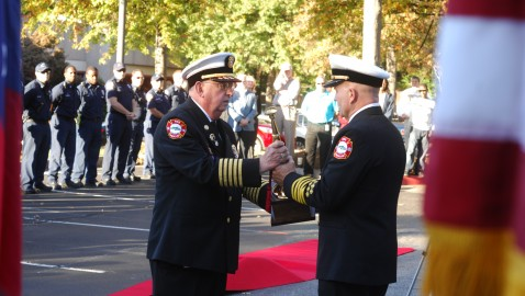 Sandy Springs welcomes new fire chief in formal change of command ceremony