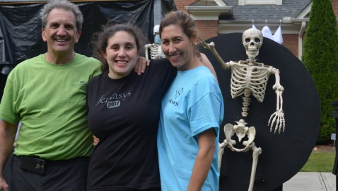 Halloween display scares up donations for autism research