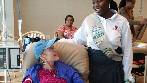Standout Student: Khorkie Tyus creates 'Warm Love' for chemo patients
