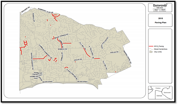 Dunwoody updates residents about ongoing construction for Paving planner