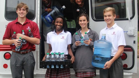 Holy Innocents' collects water for S.C. flood victims