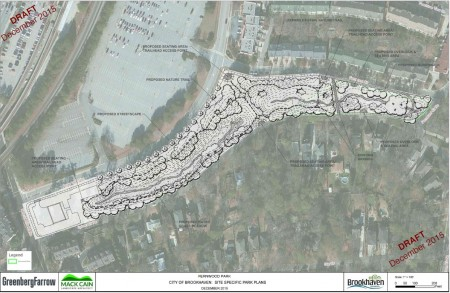The draft conceptual master plan for Brookhaven's Fernwood Park.