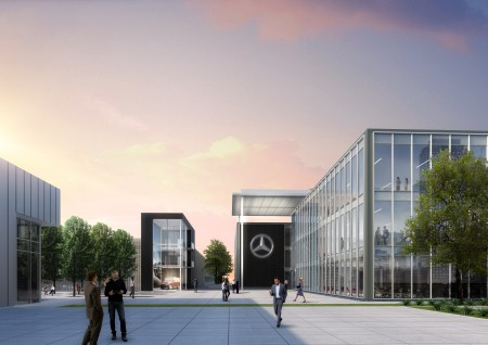 Mercedes benz usa releases images of new sandy springs for Mercedes benz corporate office