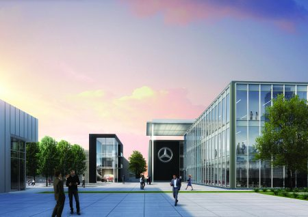 New corporate headquarters reflect millennial generation s for Mercedes benz main office