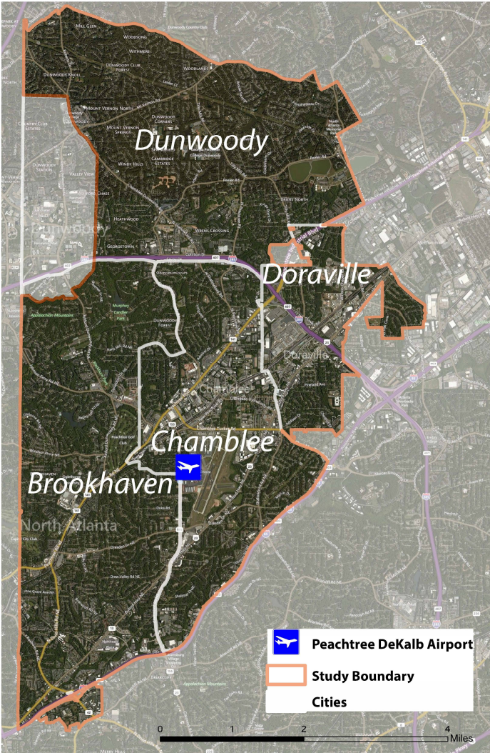 Brookhaven Dunwoody Join New City Planning Partnership - Brookhaven ga on us map