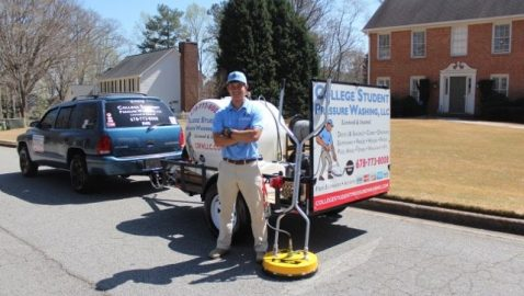 Student's pressure-washing company cleans up college debt