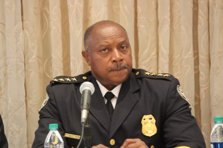 Atlanta Police Chief George Turner recently spoke at a Buckhead Business Association luncheon. (Photo Dyana Bagby)