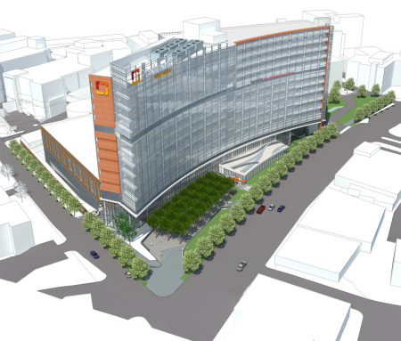 The newly released illustration of Piedmont Hospital's proposed new patient tower.