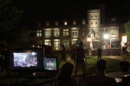 "Filming of the Cartoon Network series ""Tower Prep"" at Oglethorpe University in 2010."