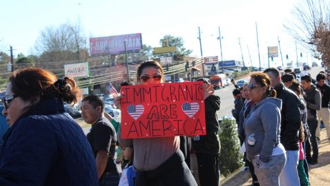 Hundreds protest on Buford Highway as part of 'Day Without Immigrants'