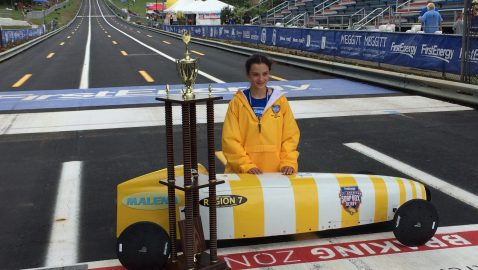 Brookhaven girl is natural behind the Soapbox Derby wheel
