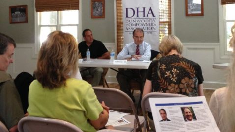 Dunwoody council candidates make pitches during DHA forum