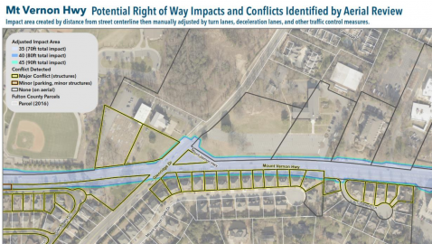 Mount Vernon widening studies raise fears of taking Sandy Springs houses