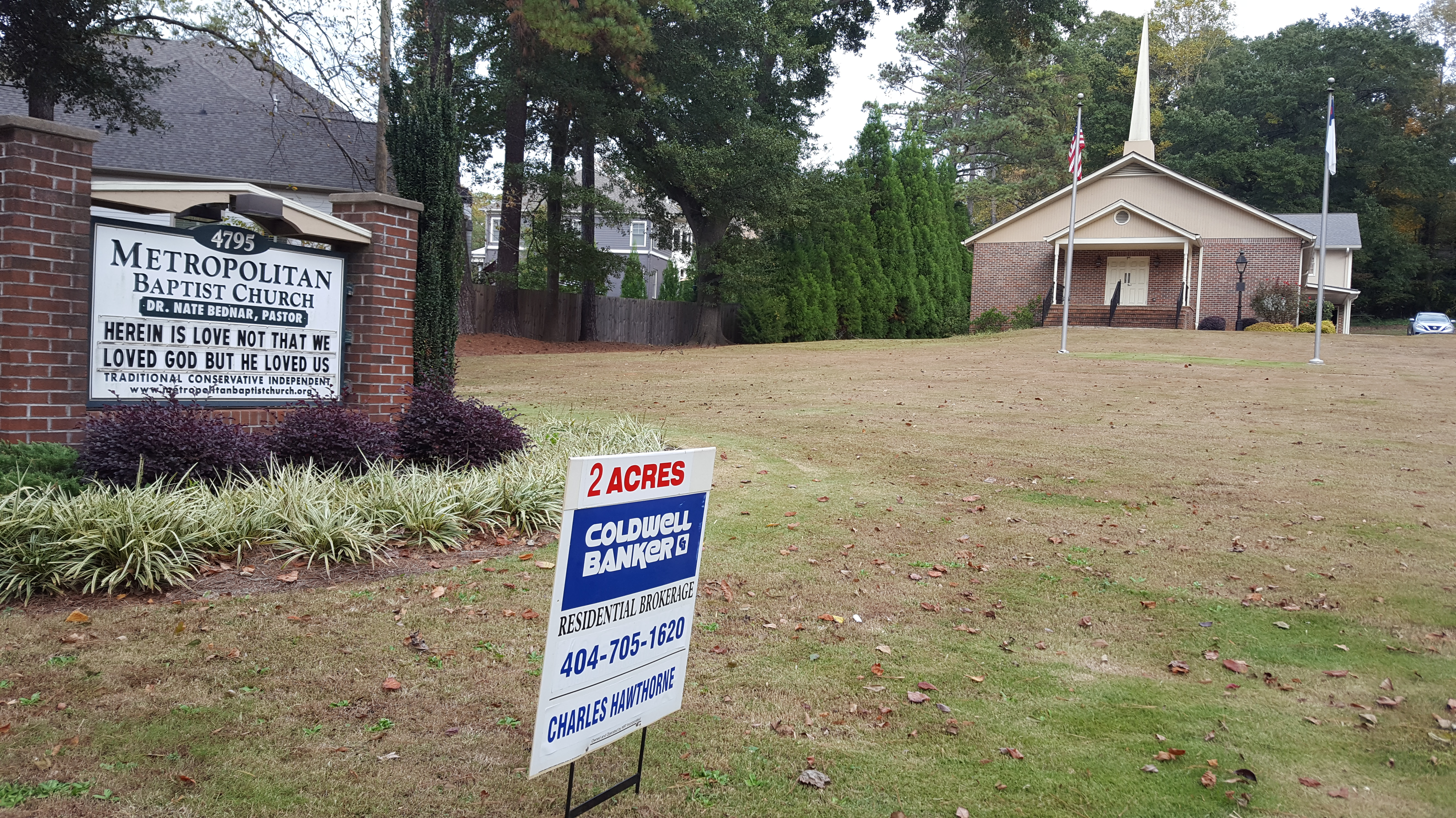 Sandy Springs church is for sale housing redevelopment possible