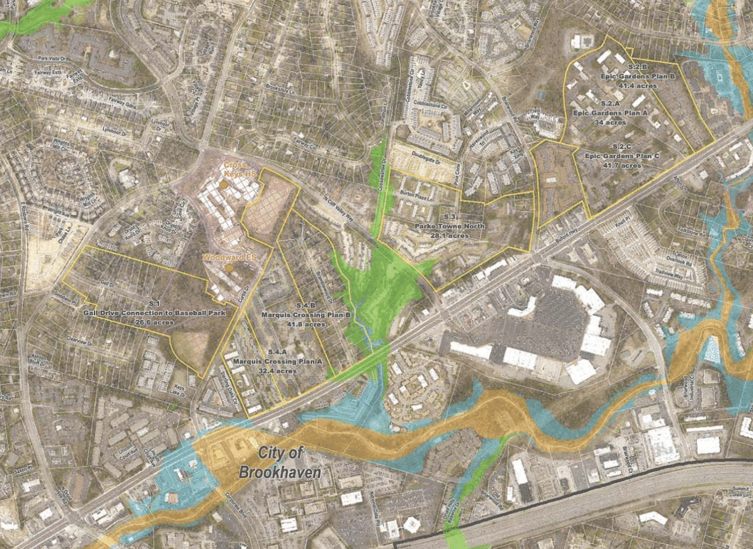A Map Shows The Sites Along Buford Highway Corridor Between North Druid Hills Road And Clairmont That Were Considered For New Cross Keys High
