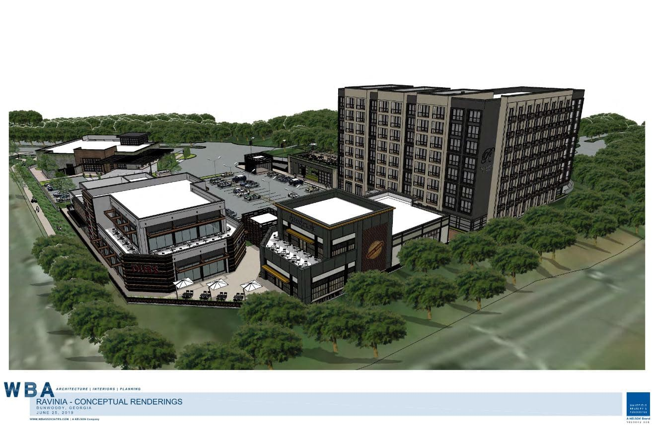 Dunwoody Council Considers Ravinia Parkway Mixed Use